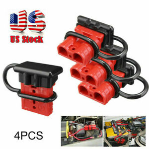 4pcs Battery Quick Connect Disconnect Jumper Connectors Cable Kit Plug Recovery