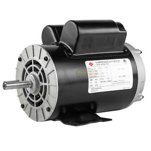 3 7 Hp 3450 Rpm Electric Motor Compressor Duty 56 Frame 1 Phase 5 8 Shaft 230 V