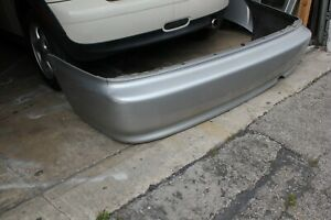 1999 2000 Honda Civic 2dr Coupe Rear Bumper Cover Oem Silver