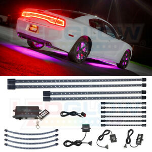 Ledglow 4pc Pink Led Underbody Kit W 4pc Wheel Well Lights 6pc Interior Lights
