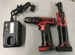 Snap On Cdr761a Ctr761c Microlithium Cordless Drill Driver Ratchet Set