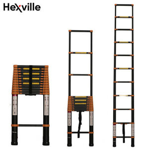Aluminum Multi purpose Telescopic Ladder Extension Foldable 12 5ft 14 5ft 16 5ft