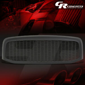 Matte Honeycomb Mesh Front Bumper Grille For 2006 2009 Dodge Ram 1500 2500 3500