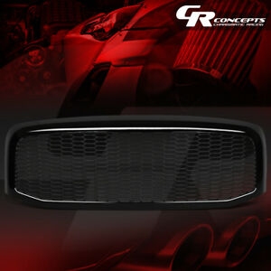 Black Honeycomb Mesh Front Bumper Grille For 2006 2009 Dodge Ram 1500 2500 3500