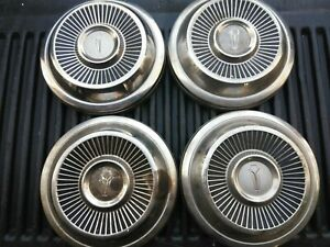 1965 67 Plymouth Dog Dish Hubcaps Set Of 4