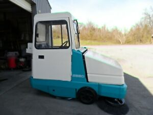 Tennant 6550 Sweeper Only 725 Low Hr Clean Unit With Cab Fully Serviced
