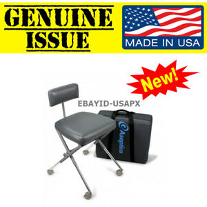 Us Military Aseptico Aseptistool Portable Dental Stool Field Chair Adc 08cf Army