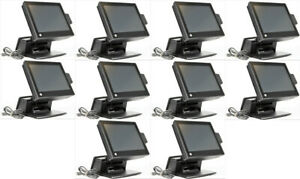 Lot Of 10 Hp Rp7800 Retail Pos System 15 Touchscreen 2 5ghz 4gb 500gb Sdd Hdd