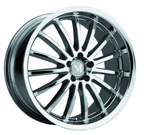 Mandrus Millenium Rims Wheels For Mercedes 22x9 5x112 Chrome 1 Each