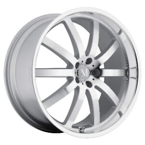 Mandrus Wilhelm Rims Wheels For Mercedes 20x10 5x112 Silver W Mirror Lip 1 Ea