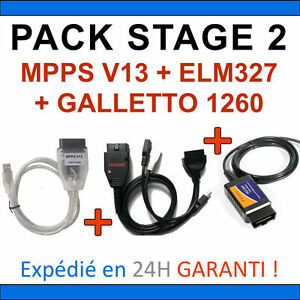 Diagnosis And Programming Pack Stage 2 Mpps V13 Galletto 1260 Elm327 Usb