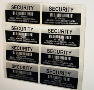 1000 Black High Security Tamper Evident Warranty Void Labels stickers Sticker
