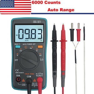 6000counts Trms Digital Multimeter Ac dc Auto Range Voltage Current Meter Tester
