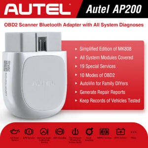 Autel Bluetooth Obd2 Adapter Scanner App Ap200 For Iphone Ipad Android As Mk808