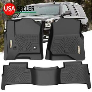 All Weather Floor Mats Liners For 2015 2020 Chevy Tahoe Black Set 1st 2nd Row