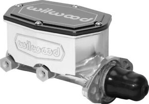New Wilwood Polished Compact Integral Tandem Master Cylinder dual Outlet 1 Bore