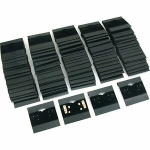 1000pk Black Earring Display Flocked Cards Packaging Jewelry 2 X 2 Inches