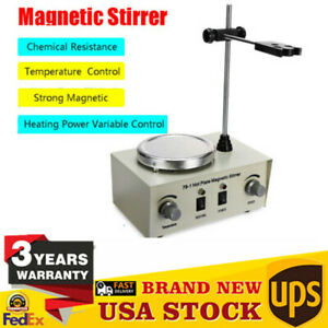Magnetic Stirrer With Heating Plate Digital Hotplate Mixer Stir Bar 1000ml Usa