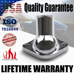 Chrome Water Neck Thermostat Housing O Ring For 55 65 Chevy Sbc 350 327 400 454