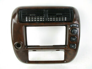 Ford Explorer Ranger Mountaineer Dash Radio Climate Control Bezel Wood 95 03