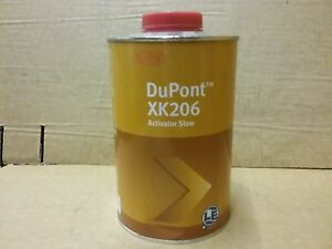 Dupont 2k Slow Activator Xk206 1 Litre Hardener Catalyst For Hs Paints
