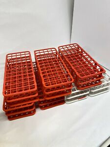 7 Pc Rack Holder Storage Stand Lab 60 Holes Facility 3 Layers Plastic Test Tubes