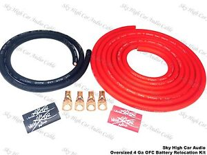 Oversized 4 Ga Ofc Battery Cable Relocation Kit 16 4 Wiring Imca Ump K12