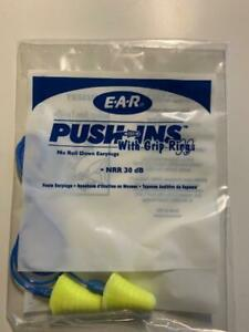 20 Ear E a r Corded Plugs Earplugs Push ins With Grip Rings 20 Pairs 318 1009