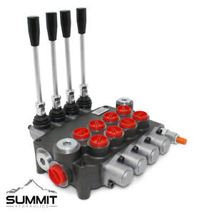 4 Spool Hydraulic Monoblock Double Acting Control Valve 21 Gpm Sae Ports