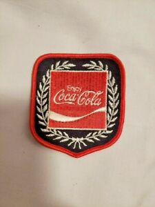 Vintage Unused Sew on Coca Cola Patch Red  Black and Silver Advertising