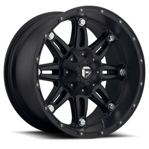 Set Of Four Fuel Wheels D531 Hostage 17x8 5 6x120 30 Matte Black