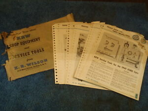 1949 50 Kre K R Wilson Ford Lincoln Mercury Dealer Special Tool Catalog 50 S