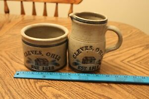 Cleves Ohio 150 Year Anniversary Crock And Pitcher