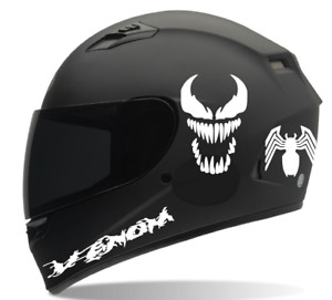 Venom 6pc Motorcycle Helmet Decals Kit Sticker Honda Suzuki Yamaha Atv