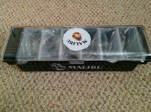 Malibu Rum Branded Bar Condiment Fruit Caddy Black With Clear Top Brand New