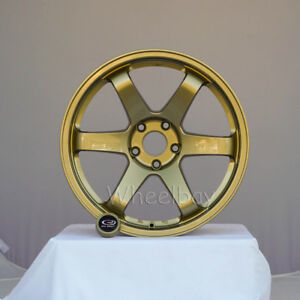 4 Rota Wheel Grid 18x9 5 5x114 3 20 73 Gold Evo Last Set