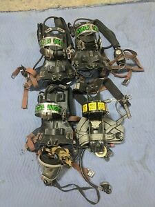 lot Of 4 Msa Back Pack Fireman Fresh Air Rescue Harness
