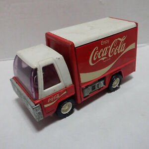 Vtg BUDDY L Coca Cola Coke Delivery Truck JAPAN 1970s with Hand Cart