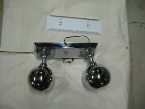 Vintage Mid Century Modern Atomic Space Age Remcraft Chrome Eyeball Wall Light