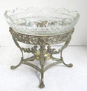 Stunning Large Oval Georgian Sterling Silver Centerpiece With Armorial