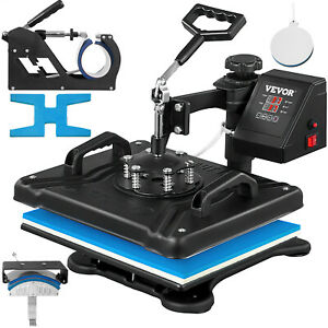 Heat Press 5 In 1 Heat Press 12 X 15 Inch Heat Press Machine For T Shirt Shoes