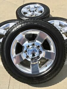 20 Inch Chevy Silverado S 2500 Oem Wheels Rims Tires Come With Chevy Caps Only