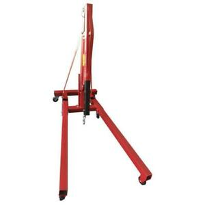 High Quality 2 Ton Red Engine Motor Hoist Cherry Picker Shop Crane Lift Foldable