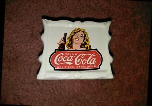 Vintage Ceramic Coca-Cola Napkin Holder