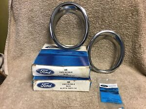 Nos Ford C5zz 5c299 a 1965 1966 Mustang Gt Exhaust Trim Rings