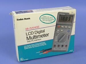 Best Ever Radio Shack 22 168a Lcd Digital Multimeter Pc Interface Software Case