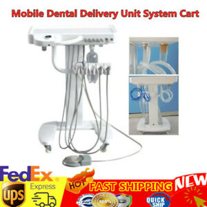 Dental Portable Mobile Self Delivery Cart Unit System 4h Treatment Weak Suction