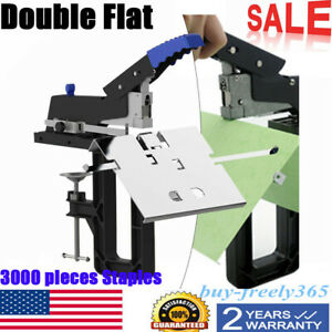 Professional Manual Dual Flat Riding Nail Saddle Stitch Stapler Binding Machine