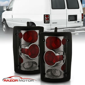Smoked 00 2006 Ford Excursion 95 06 Econoline Van E Series Tail Lights Lamps