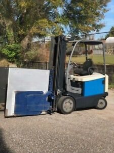 2010 Crown Fc4525 50 5000lb Forklift Clamp Attachment 206 Height 36v Electric
